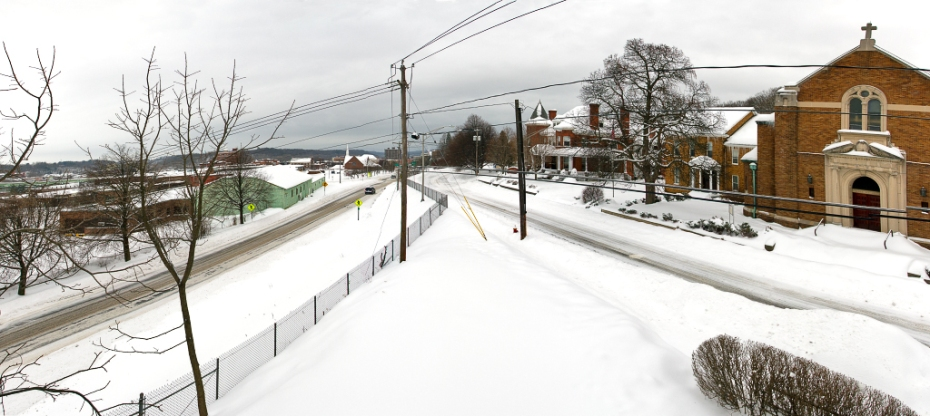 Grove Street Winter Panorama